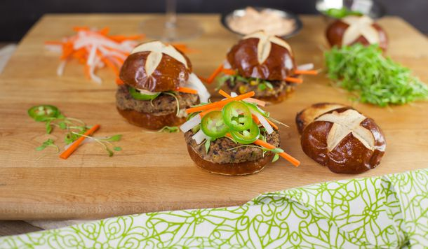 Vegan Banh Mi Sliders